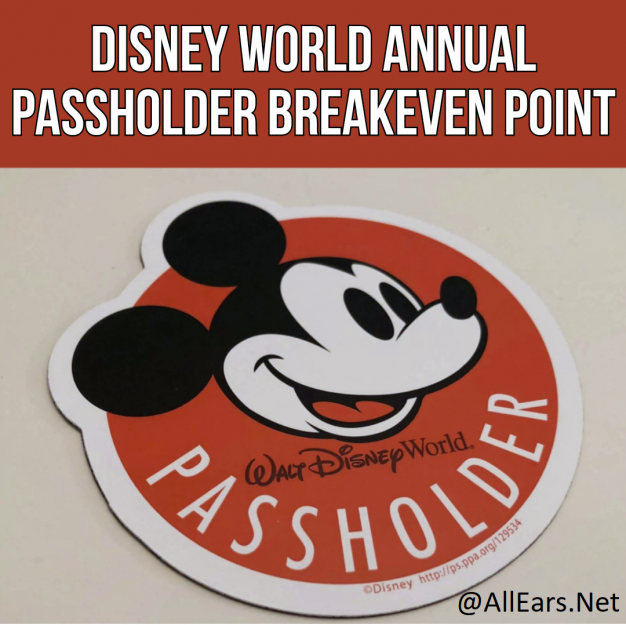 Disney Annual Passholder Breakeven Point