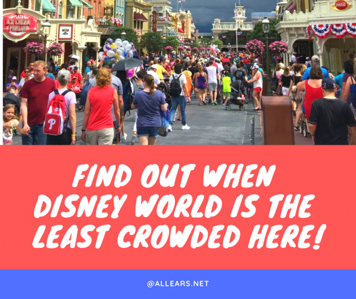 Find out when disney world is the least crowded here!