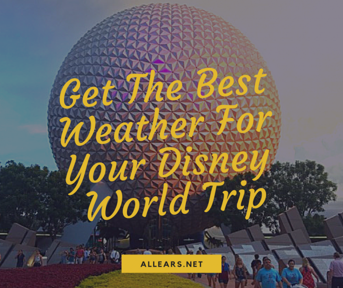 Get The Best Weather For Your Disney World Trip