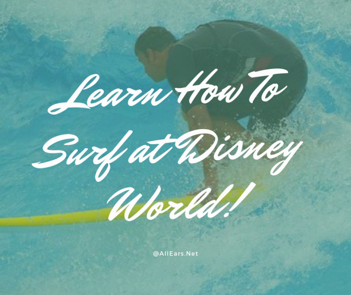 Learn How To Surf at Disney World!
