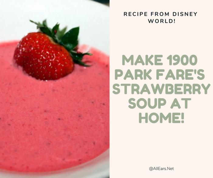 Disney World's Strawberry Soup Recipe