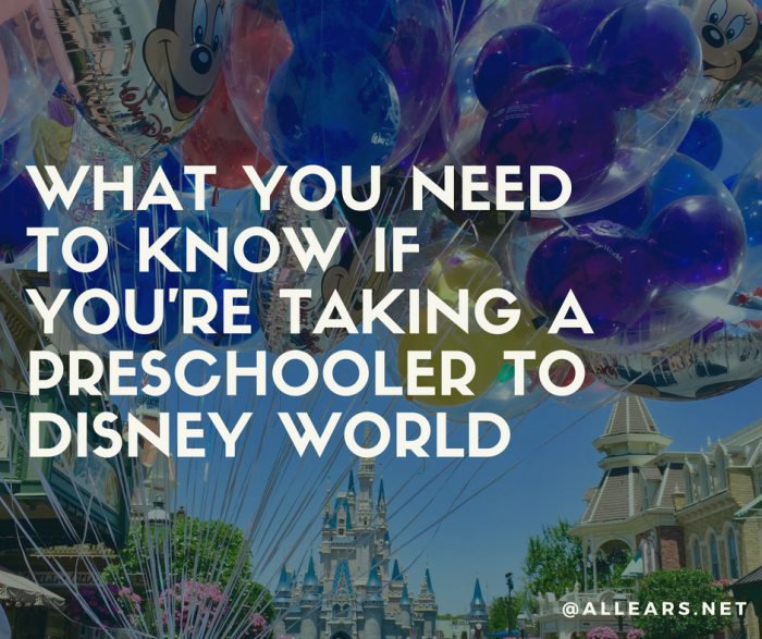 What you need to know if you're taking a preschooler to disney world