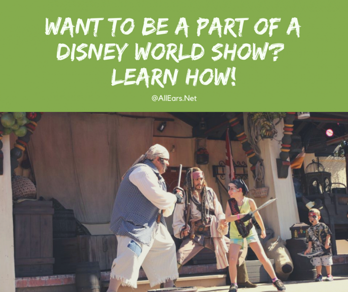 Be a part of a disney world show