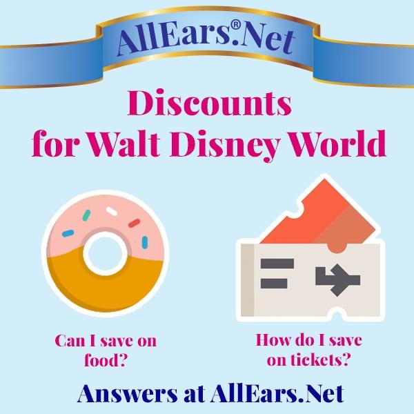 Discounts for Walt Disney World