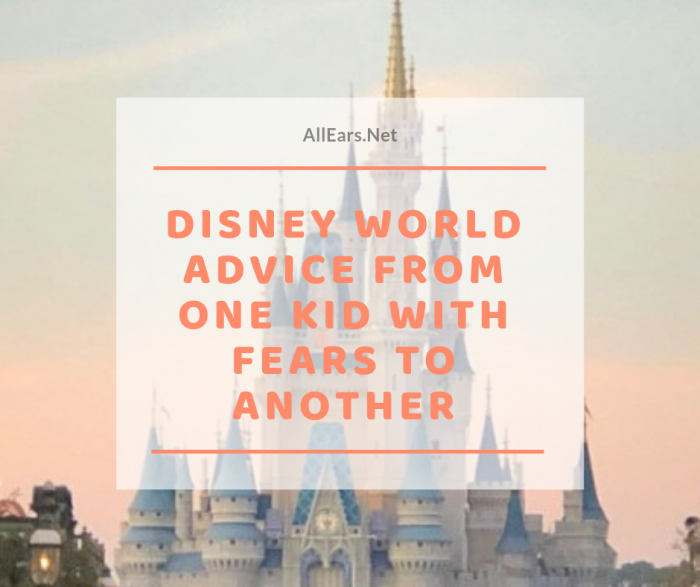 disney world Advice for Fearful Kids from a Fearful Kid
