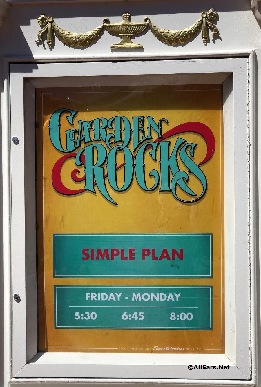 Epcot Garden Rocks Signage