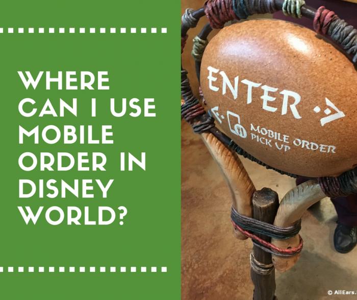 Disney World mobile order