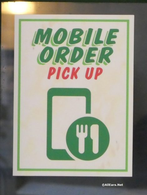 Mobile Order Pick-up Sign