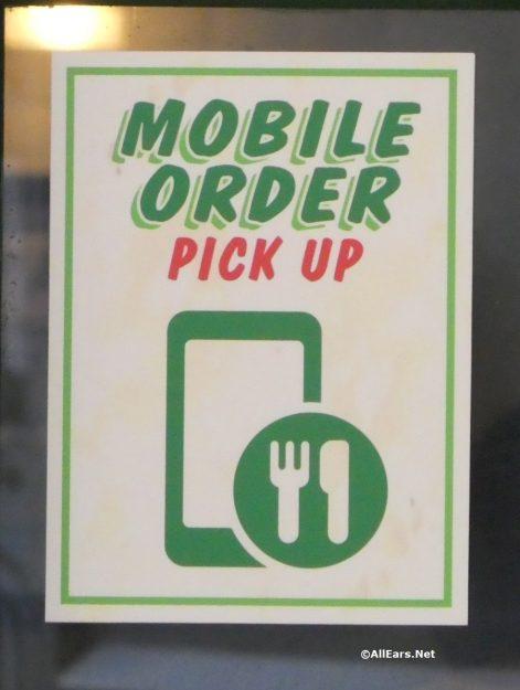 Mobile Order Pick-up Sign