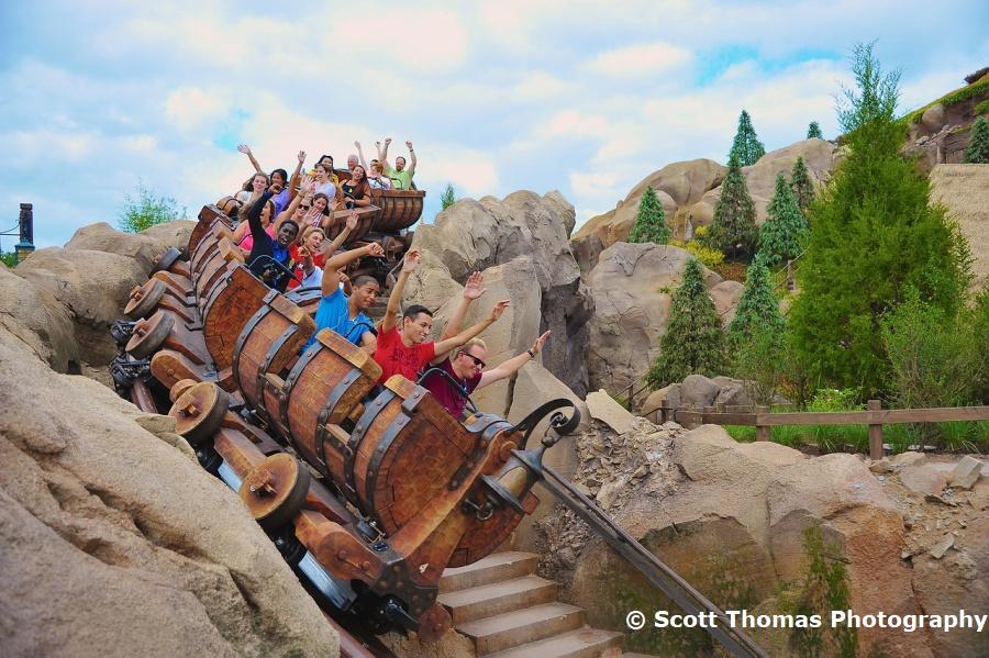 Seven Dwarfs Mine Train in Fantasyland in the Magic Kingdom