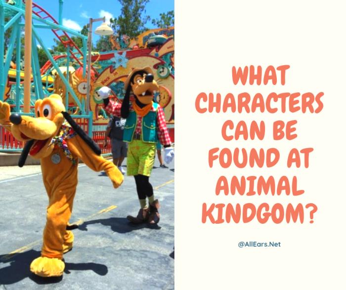 Characters at Disney's Animal Kingdom