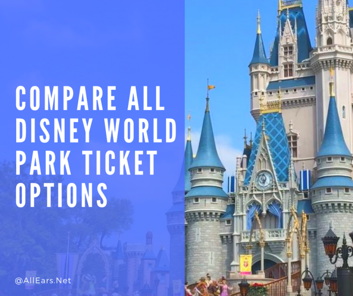 Compare all Disney World Park Tickets