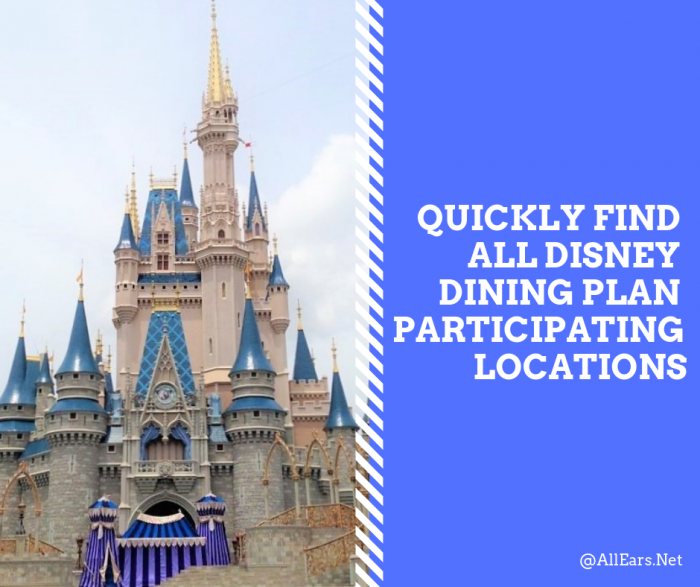 Disney Dining Plan Participating Locations
