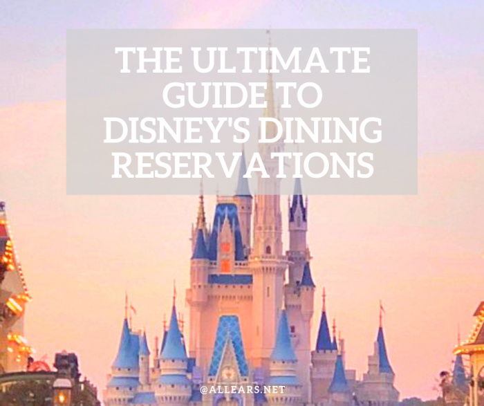 Disney's Dining Reservations FAQ