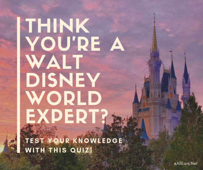 Disney World Knowledge Quiz