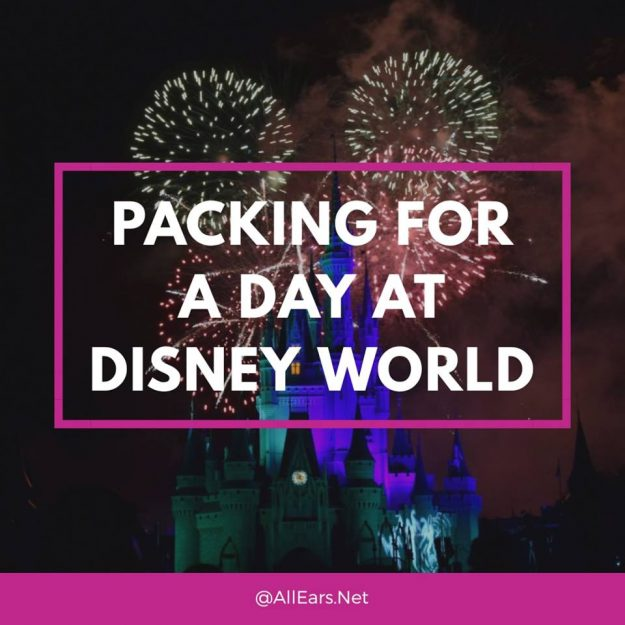 Packing for a day at Disney World