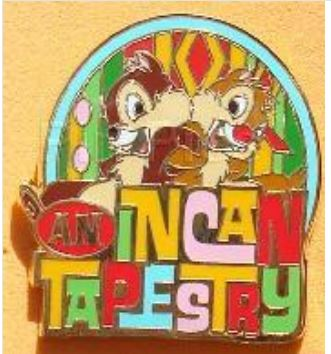 959a9e191b9db Adventures by Disney – Chip  n  Dale – An Incan Tapestry Pin
