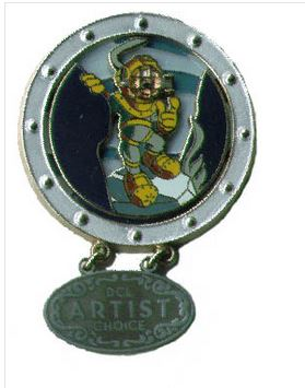 Disney Passholder  2013 Randy Noble Framed Mickey Print Ornament Christmas Key
