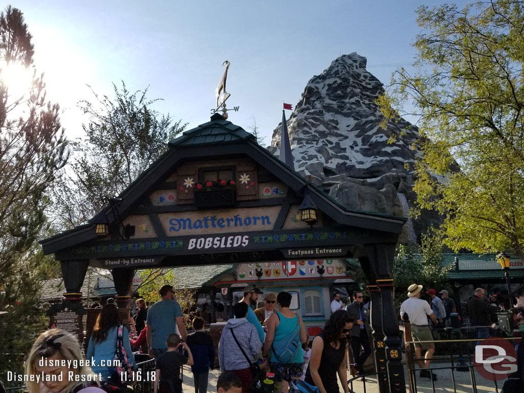 New Matterhorn Bobsleds Queue At Disneyland Allears Net