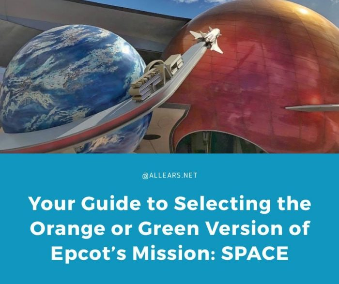 Orange or Green on Mission Space