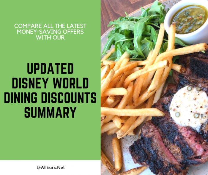 Updated Disney World Dining Discounts Summary