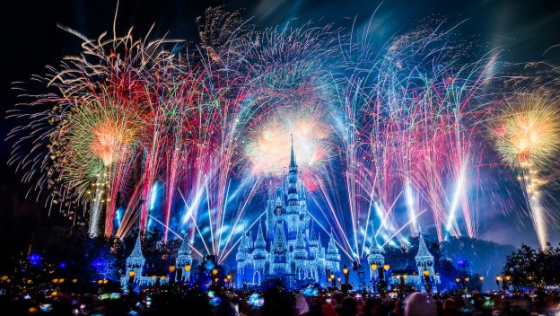 fireworks in magic kingdom disney