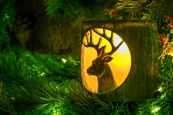Wilderness Lodge Tree Ornament by Kevin