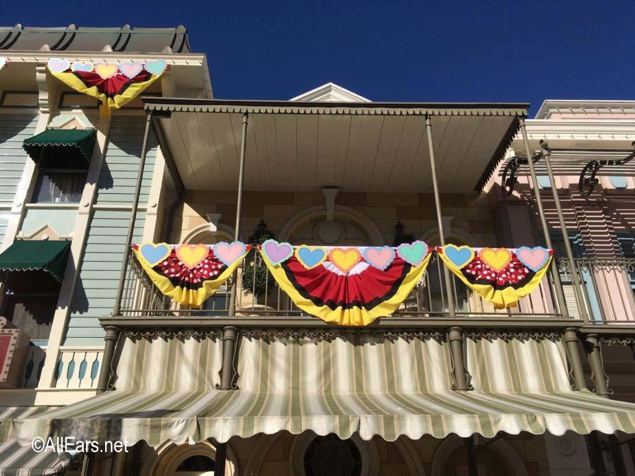 Valentines Month Decor At Disneyland