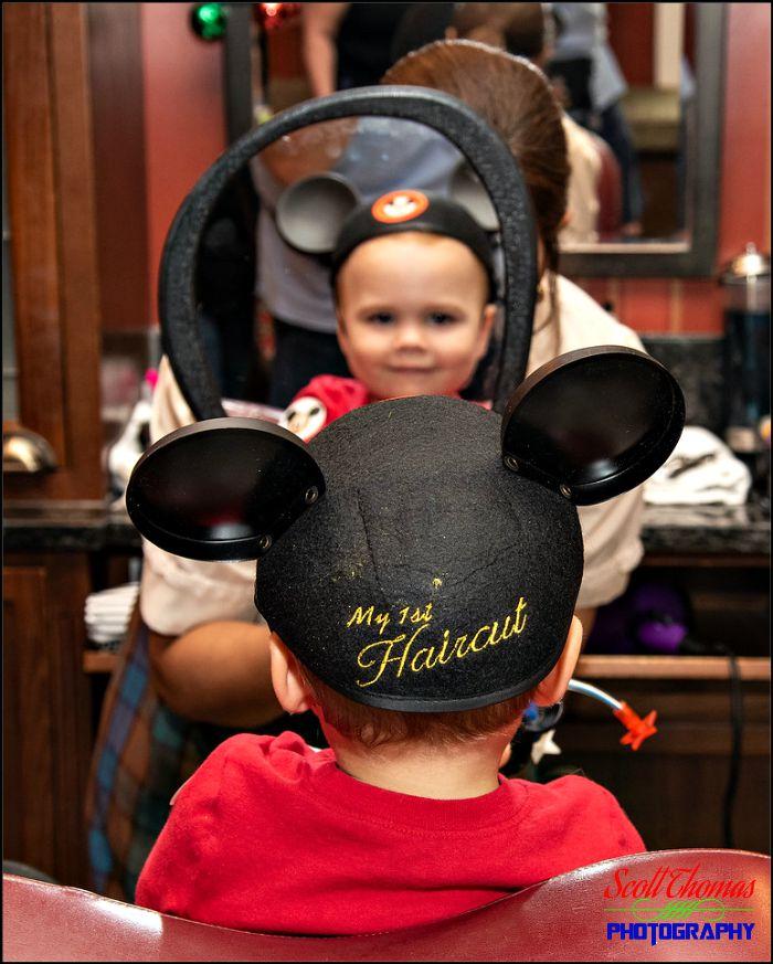 1st Haircut at Harmony Barber Shop