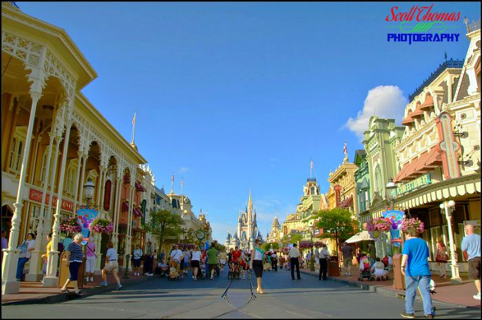 View Down Main Street USA