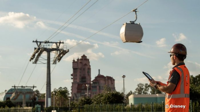 Disney Skyliner gondola in testing phase