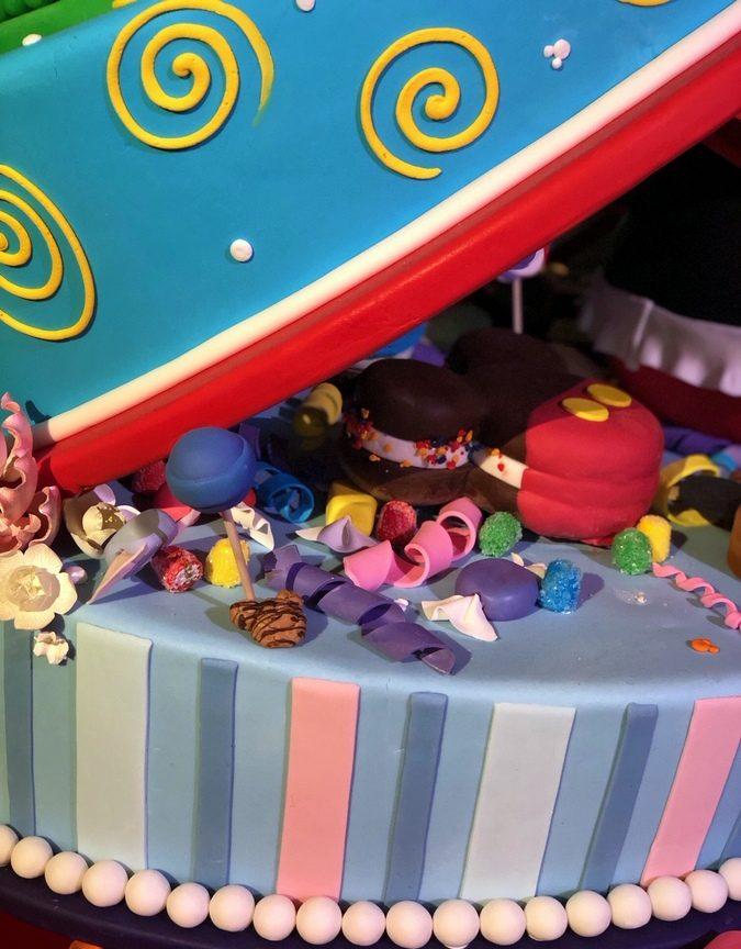 Mickeys 90th Birthday Cake On Display At Disneylands Grand Californian Hotel Spa