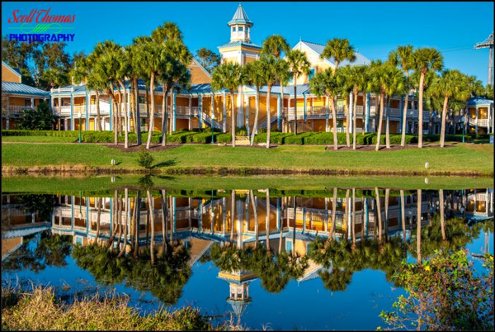 Caribbean Beach Resort Reflection Landscape