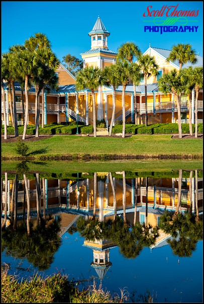 Caribbean Beach Resort reflection Portrait