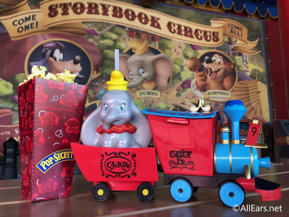 2020 Popcorn Bucket Disney World Christmas Dumbo Inspired Popcorn Bucket and Sipper Soar to Walt Disney World