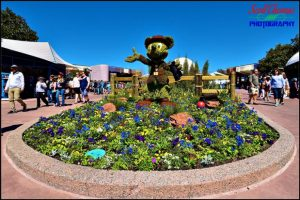 Ranger Mickey Mouse Topiary