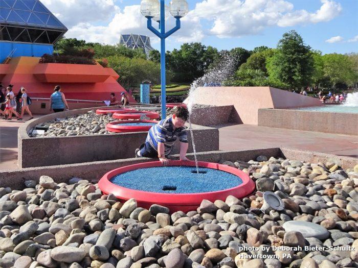 Boy at Fountain at Imagination Pavilion