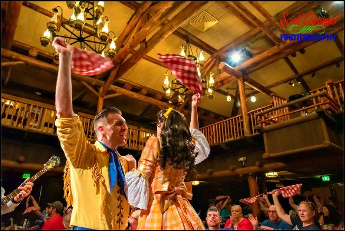 Waving Napkins at the Hoop-Dee-Doo Musical Revue