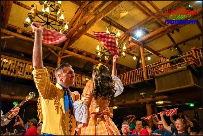 Waving Napkins at the Hoop-Dee-Doo Musical Revue