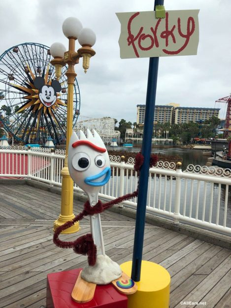 Forky from Toy Story 4 Appears in California Adventure