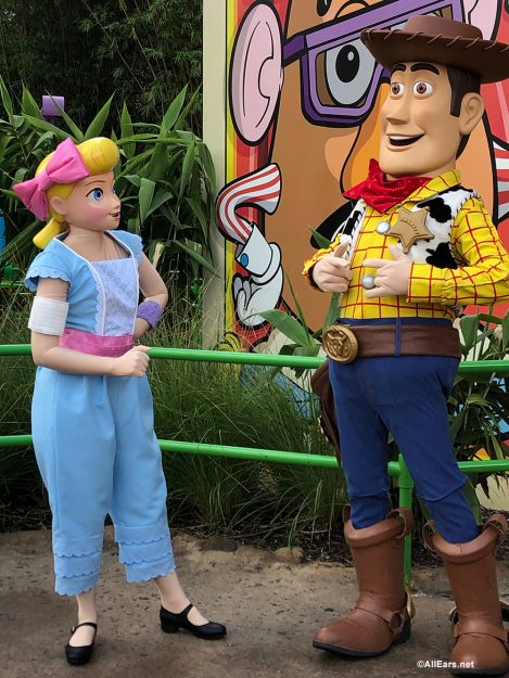 Bo Peep and Woody in Toy Story Land for Meet and Greets