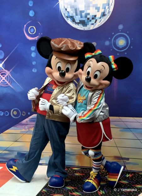 Disco Mickey and Minnie Mouse
