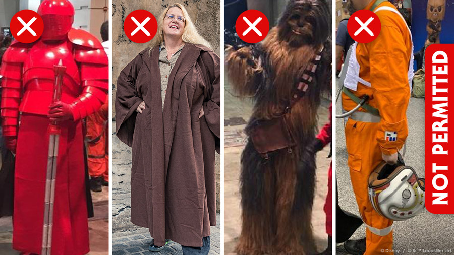 Disney's illustrated dress code for Star Wars: Galaxy's Edge