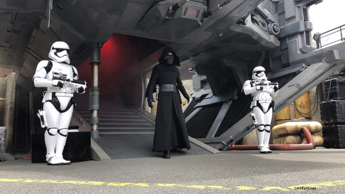 Kylo Ren and Stormtroopers in Star Wars: Galaxy's Edge