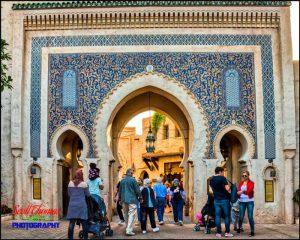 Morocco Bab Boujeloud Gate