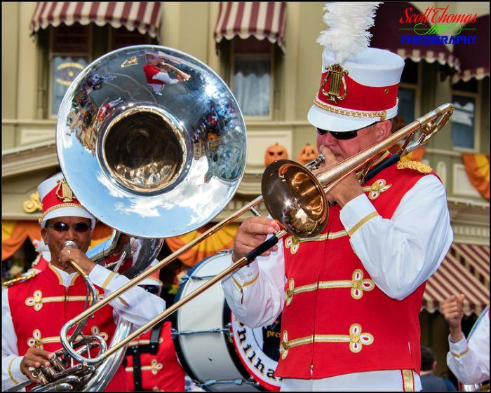 Main Street Philharmonic trombone player