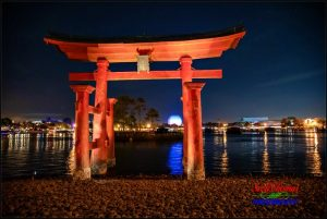 Red Torii Gate at Night