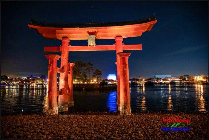 Red Torii Gate at Night