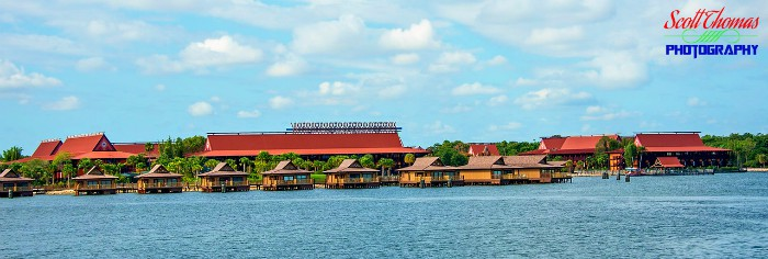 Polynesian Village Resort from the water