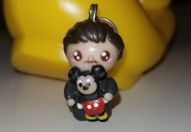 Walt and Mickey polymer clay charm